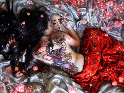 Mythology fantasy dragon geisha limited pinterest jpg 800x600